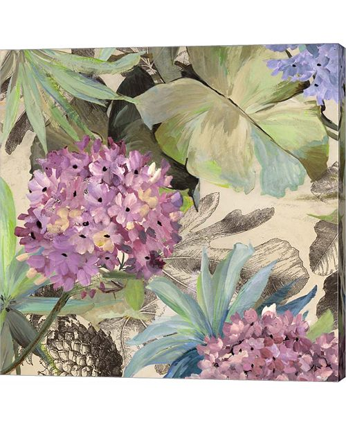 Metaverse Pink Hydrangeas by Eve C. Grant Canvas Art
