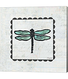 Dragonfly Stamp by Courtney Prahl Canvas Art