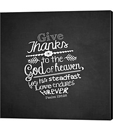 Psalm 136|26, Give Thanks, Chalkboard by inspire Me Canvas Art