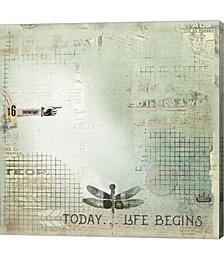Today Begin Life by Marcee Duggar Canvas Art
