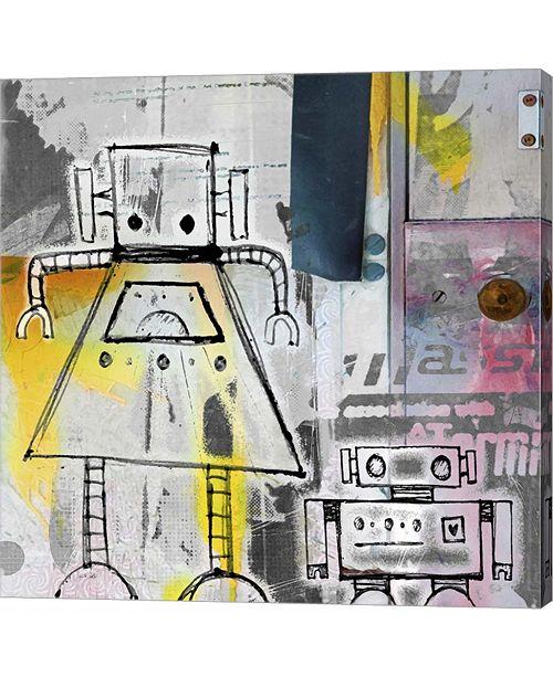 Metaverse Mum and Son Robots by Roseanne Jones Canvas Art