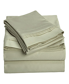 Superior 1500 Thread Count Egyptian Cotton Solid Sheet Set - Queen - White