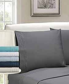 Superior 1000 Thread Count Egyptian Cotton Solid Sheet Set With Embroidery - Split King - White