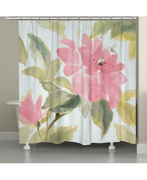 Laural Home Pink Blossom Shower Curtain
