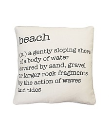 "Thro Feather Fill Bree Beach Definition Printed Haze Pillow, 20"" x 20"""