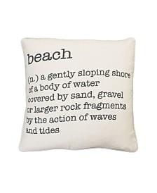 "Thro Feather Fill Bree Beach Definition Printed Haze Pillow, 20"" x 20"""