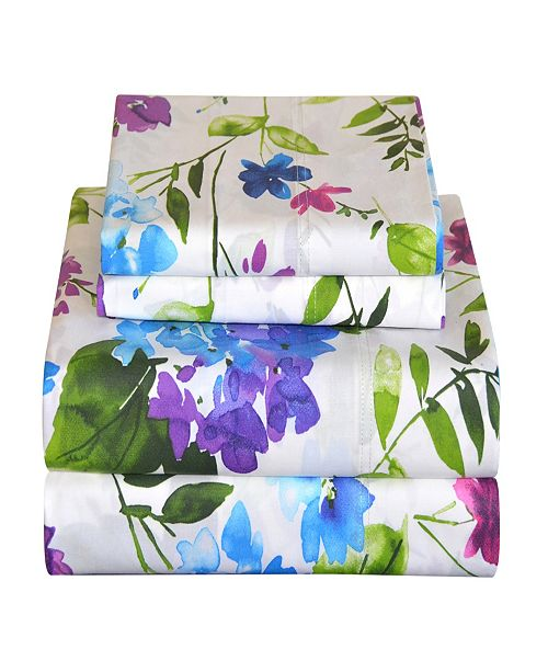 Pointehaven 200TC Printed Percale Sheets
