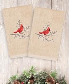 CLOSEOUT! Linum Home Christmas Cardinal 100% Turkish Cotton 2-Pc. Hand Towel Set