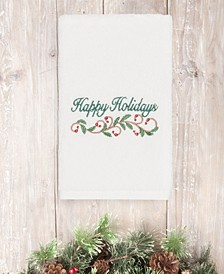 Christmas Happy Holidays 100% Turkish Cotton Hand Towel