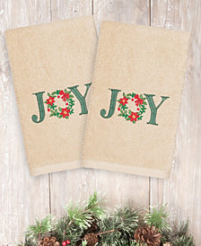 Linum Home Christmas Joy 100% Turkish Cotton 2-Pc. Hand Towel Set