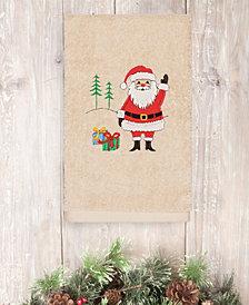 Linum Home Christmas Santa Waving 100% Turkish Cotton Hand Towels