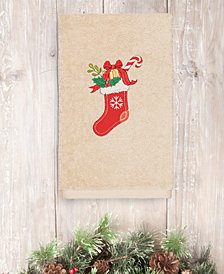 Linum Home Christmas Stocking 100% Turkish Cotton Hand Towels