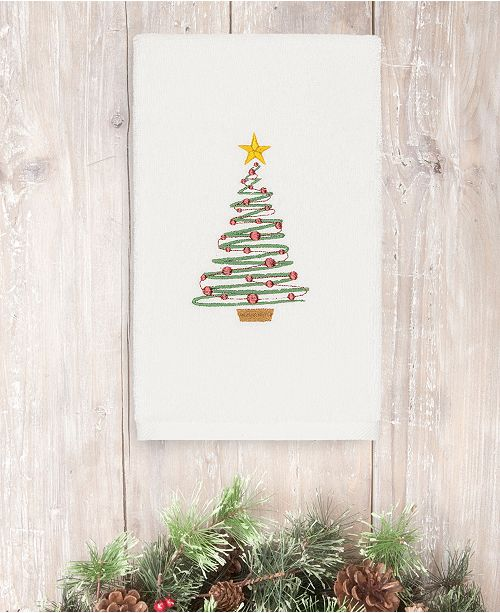 Linum Home CLOSEOUT!  Christmas Tree 100% Turkish Cotton Hand Towels