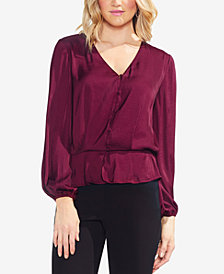 Vince Camuto Button-Down Peplum-Top