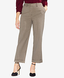 Vince Camuto Country-Houndstooth Cuffed Pants