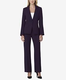 Tahari ASL Petite One-Button Pantsuit