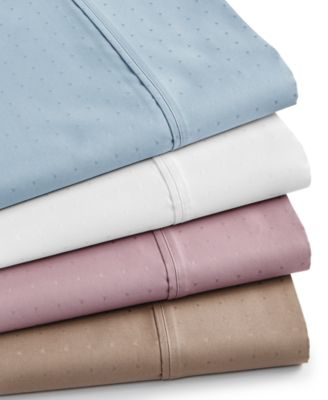 Sleep Luxe 700 Thread Count, Dobby Dot Standard Pillowcase Pair, 100% Egyptian Cotton, Created for Macy's
