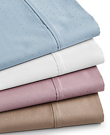 Sleep Luxe 700 Thread Count, Dobby Dot 4-PC Extra Deep Sheet Sets, 100% Egyptian Cotton, Created for Macy's