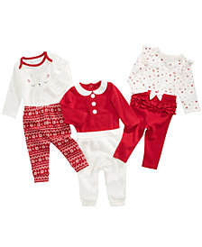 First Impressions Baby Girls Holiday Bodysuits, Jogger Pants & Leggings Separates, Created for Macy's
