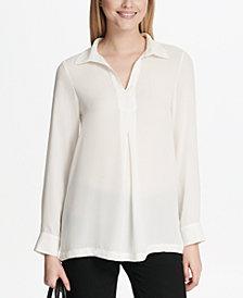 Calvin Klein Georgette Long-Sleeve Top