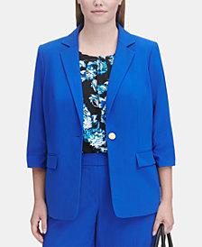 Calvin Klein Plus Size 3/4-Sleeve Blazer