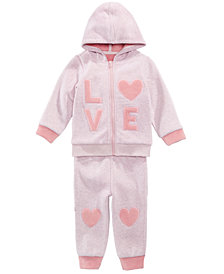 First Impressions Baby Girls Hooded Sweatshirt & Heart Jogger Pants, First Impressions