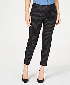 Anne Klein Striped Slim-Fit Pants