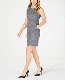 Anne Klein Plaid Pocket Dress