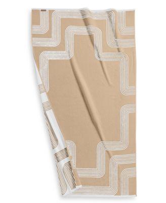 "Borderline Turkish Cotton 40"" x 70"" Resort Towel, Created for Macy's"