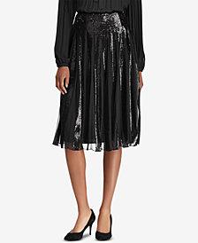 Lauren Ralph Lauren Sequin-Stripe Tulle Skirt