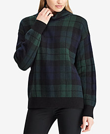 Lauren Ralph Lauren Tartan Funnel Neck Sweater