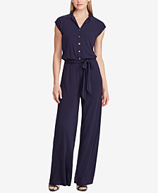 Lauren Ralph Lauren Buttoned Jumpsuit