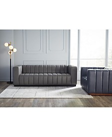 Closeout! Halewood Leather Sofa Collection