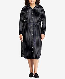 Lauren Ralph Lauren Plus Size Striped Shirtdress