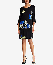 Lauren Ralph Lauren Floral-Printed Bell Sleeve Dress