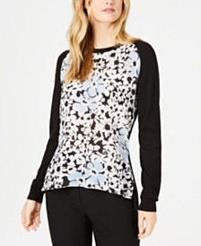 Weekend Max Mara Glamis Printed-Front Sweater