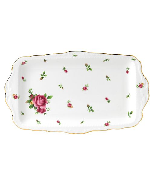 Royal Albert Dinnerware, Old Country Roses White Vintage Sandwich Tray