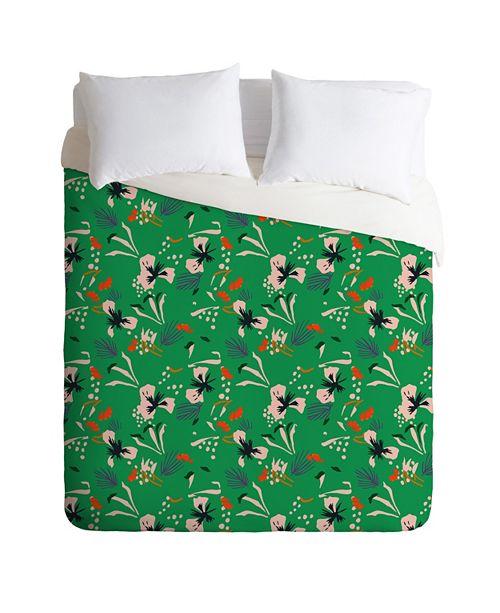 Deny Designs Holli Zollinger Anthology Of Pattern Seville Garden Green Queen Duvet Set