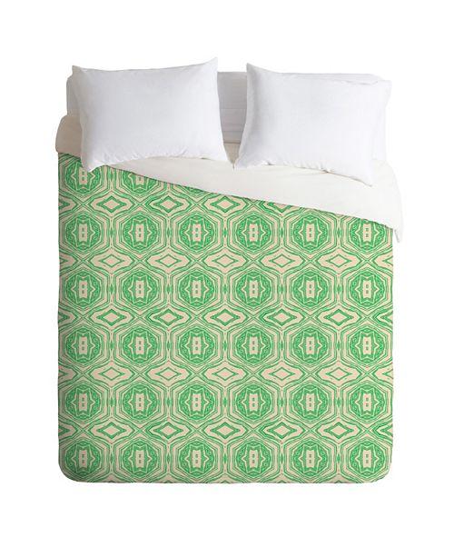 Deny Designs Holli Zollinger Anthology Of Pattern Seville Marble Green King Duvet Set