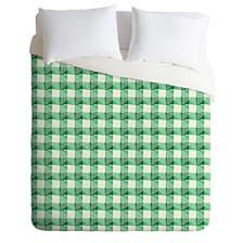 Deny Designs Holli Zollinger Anthology Of Pattern Seville Gingham Green Queen Duvet Set