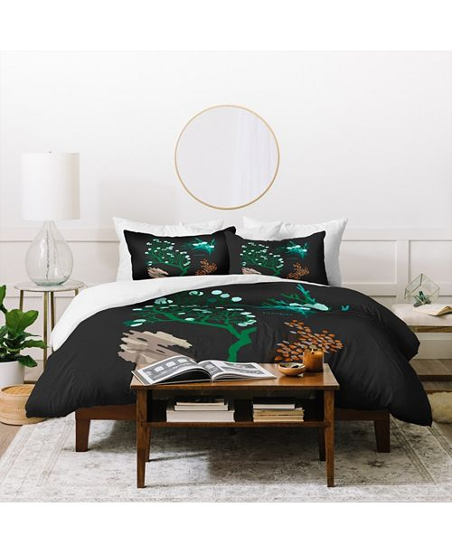 Deny Designs Holli Zollinger Desert Botanical Juniper Twin Duvet Set