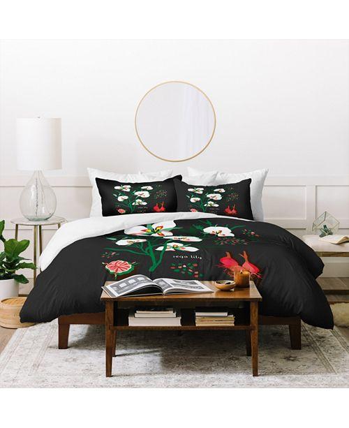 Deny Designs Holli Zollinger Desert Botanical Sego Lily Twin Duvet Set