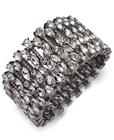I.N.C. Silver-Tone Crystal Stretch Bracelet, Created for Macy's