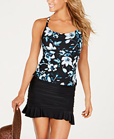 Island Escape Veronique Palisades Printed Tankini Top & Swim Skirt, Created for Macy's