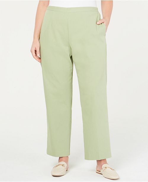 Alfred Dunner Plus Size Greenwich Hills Pull-On Pants & Reviews ...