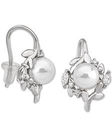 Majorica Sterling Silver Cubic Zirconia & Imitation Pearl Drop Earrings