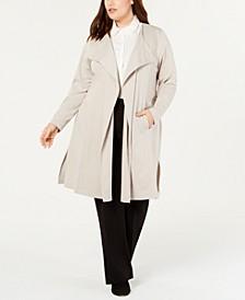 Plus Size Ponté Trench Jacket