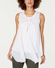 Style & Co Handkerchief-Hem Swing Top, Created for Macy's