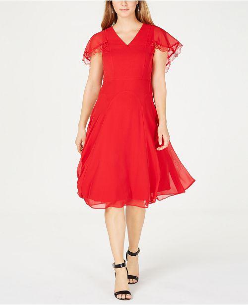 b28c75934e262 Nanette Lepore Nanette by Cape-Sleeve Dress