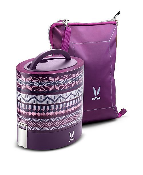 VAYA LLC Vaya Tyffyn 1000 Wool Lunch Box with Bagmat - 33.5 oz